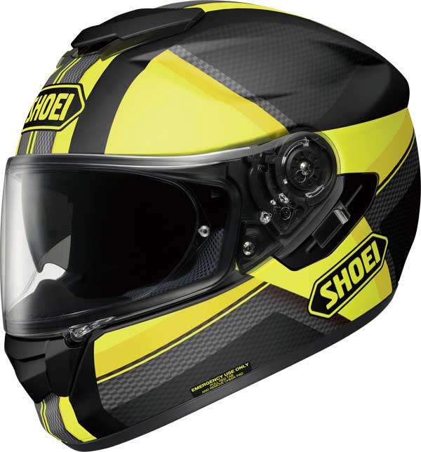 SHOEI CASCO INTEGRALE GT-AIR EXPOSURE TC-3 BLACK-YELLOW MATT