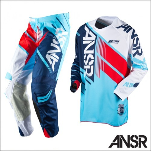 ANSWER PANTALONI MAGLIA CROSS ELITE RACE GEAR BLUE RED