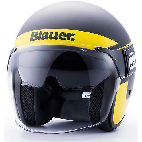 BLAUER HELMET HT POD STRIPES BLACK/YELLOW/WHITE MATT