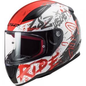 LS2 CASCO RAPID FF353 NAUGHTY WHITE RED