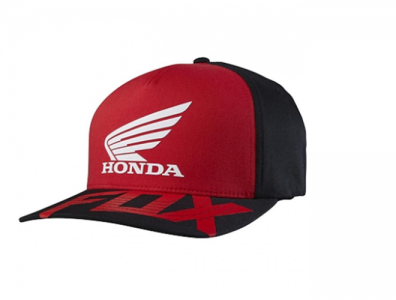 FOX HRC HONDA CAPPELLINO BASIC FF HAT RED BLACK