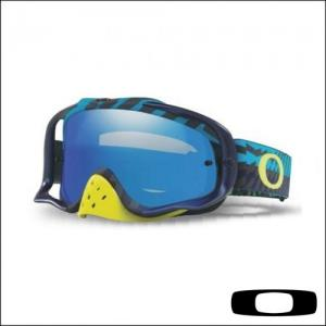OAKLEY CROWBAR BRAKING BUMPS BLUE GREEN - Lente Ice Iridium & Clear