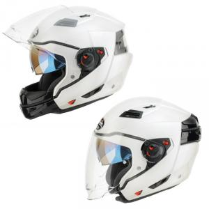 AIROH CASCO CROSSOVER EXECUTIVE PEARL GLOSS