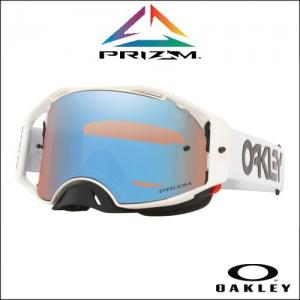 OAKLEY AIRBRAKE MX FACTORY PILOT WHITE - Lente Prizm MX Sapphire
