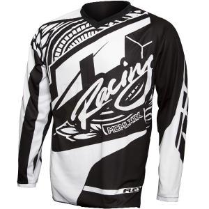JT RACING USA MAGLIA JT17 FLEX  VICTORY Black/White