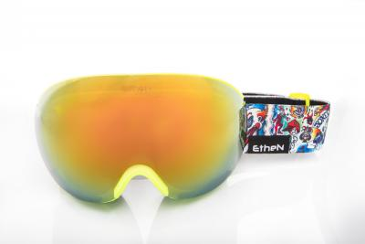 MASCHERE SCI ETHEN HOOK SNOW MIRROR GOLD LENS/TATOO