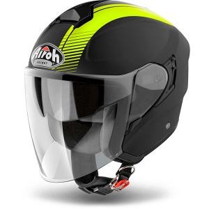 AIROH CASCO JET HUNTER SIMPLE YELLOW MATT