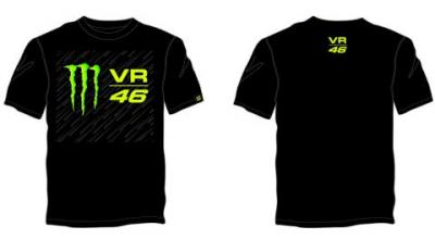 T-SHIRT VR46 MONSTER NERA