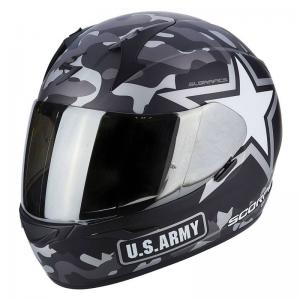 SCORPION EXO-390 ARMY MATT BLACK SILVER