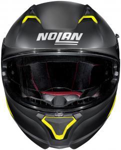 NOLAN N87 EMBLEMA N-COM FLAT BLACK YELLOW