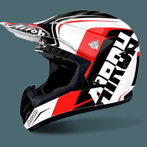 AIROH SWITCH CASCO CROSS SIGN RED GLOSS