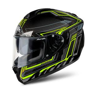 AIROH ST 701 SAFETY FULL CARBON YELLOW GLOSS