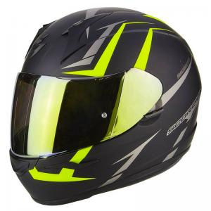 SCORPION EXO-390 HAWK MATT BLACK-NEON YELLOW
