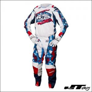 JT RACING USA LE BAD BONES Red/White/Blue