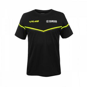 T-SHIRT VR46 YAMAHA BLACK