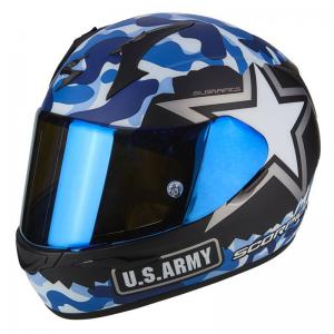 SCORPION EXO-390 ARMY MATT BLACK BLUE