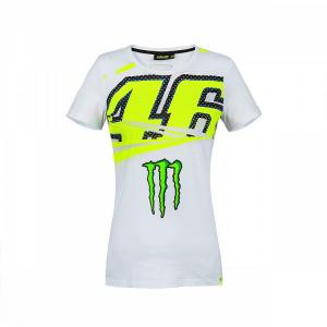T-SHIRT VR46 MONSTER 46 DONNA BIANCA