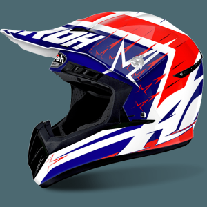 AIROH SWITCH CASCO CROSS START RUCK BLUE RED