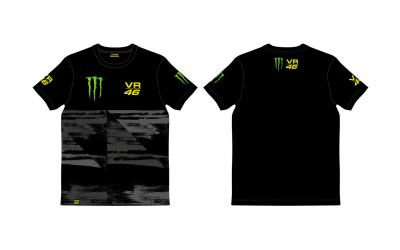 T-SHIRT MAN BLACK MONSTER VR46